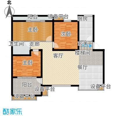 中虹花园锦绣文华134.00㎡中虹花园锦绣文华3室户型3室