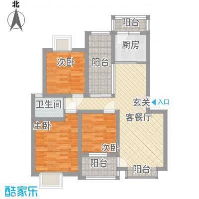 尼盛青年城95.00㎡尼盛青年城户型图户型图3室2厅1卫户型3室2厅1卫