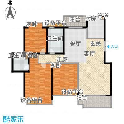 中虹花园锦绣文华183.00㎡中虹花园锦绣文华4室户型4室