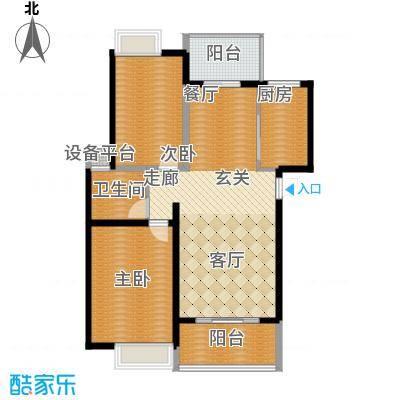 中虹花园锦绣文华107.00㎡中虹花园锦绣文华2室户型2室