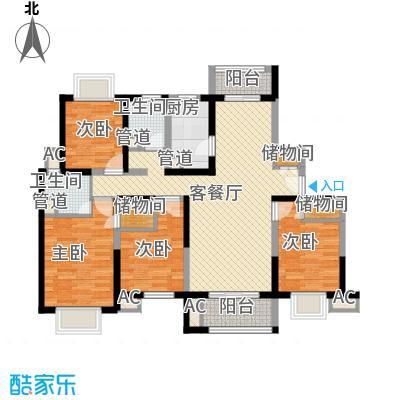 天际蓝桥户型图17号02室户型 4室2厅2卫1厨