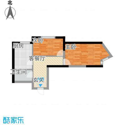 新居佳园 2室户型图