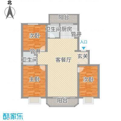 兴龙苑户型图3室2厅2卫
