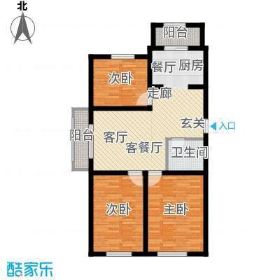 东城花园户型图3室2厅1卫