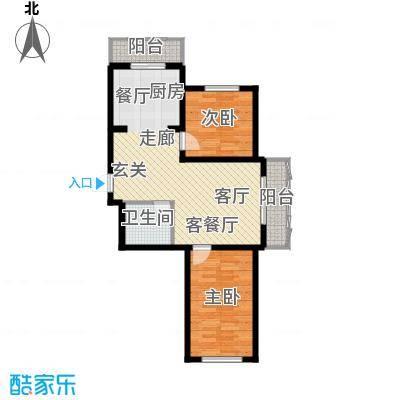 东城花园户型图2室1厅1卫
