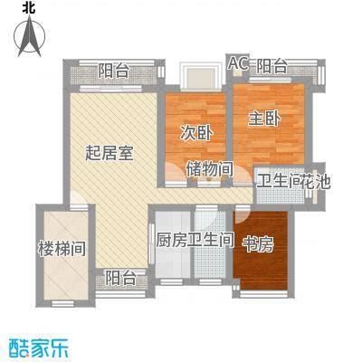 香林玫瑰园90.00㎡香林玫瑰园3室户型3室