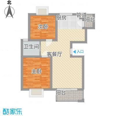 金榈湾87.00㎡金榈湾户型图小高层-E1(标准层)2室2厅1卫1厨户型2室2厅1卫1厨