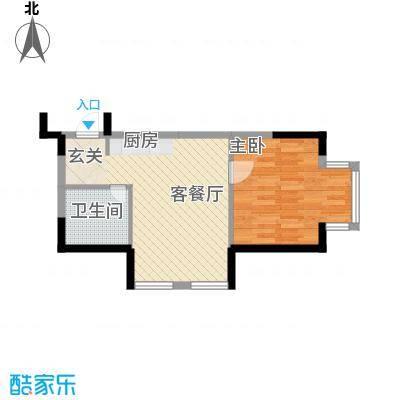 优诗美地56.00㎡优诗美地户型图高尔夫公寓1室1厅1卫户型1室1厅1卫