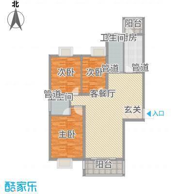 金华园 3室 户型图