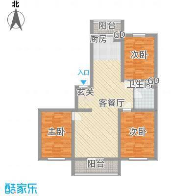 四季嘉园115.00㎡四季嘉园户型图3室2厅1卫户型10室
