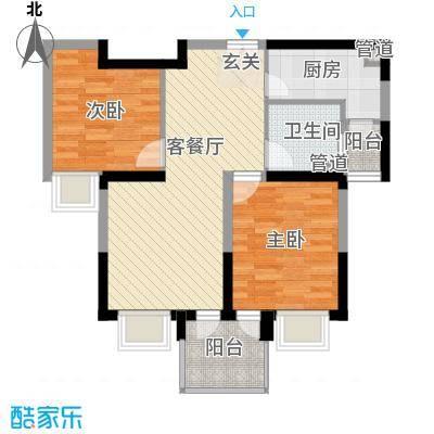 美之苑80.00㎡美之苑户型图户型图2室2厅1卫1厨户型2室2厅1卫1厨