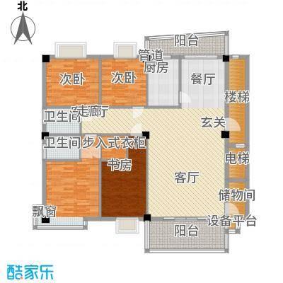 锦绣东方112.00㎡锦绣东方4室户型4室