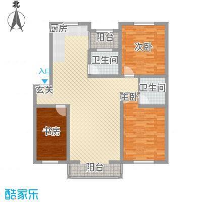 金居花园165.00㎡金居花园3室户型3室