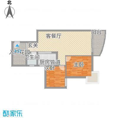 鸿景花园87.75㎡鸿景花园户型图2室2厅户型图2室2厅1卫1厨户型2室2厅1卫1厨