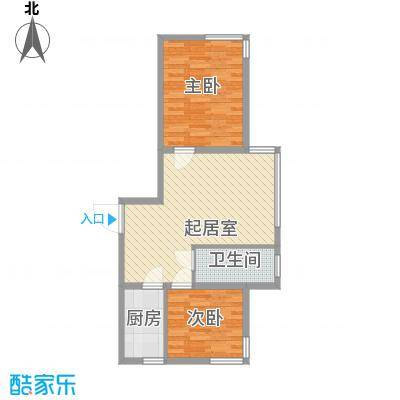 宏伟茗都三期75.00㎡宏伟茗都(三期)2室户型2室