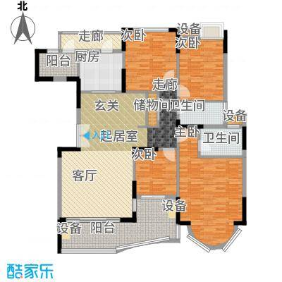 星晖园165.00㎡星晖园5室户型5室