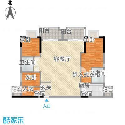 万华花园广弘叠水雨林156.00㎡万华花园广弘叠水雨林户型图1+1B3单元3室2厅2卫1厨户型3室2厅2卫1厨