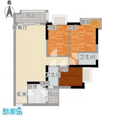 万华花园广弘叠水雨林96.00㎡万华花园广弘叠水雨林户型图B05单元3室2厅1卫1厨户型3室2厅1卫1厨