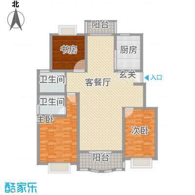 兰桥公寓北区别墅185.00㎡兰桥公寓北区别墅4室户型4室