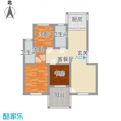 枫津新村103.00㎡枫津新村户型图户型图3室2厅2卫1厨户型3室2厅2卫1厨