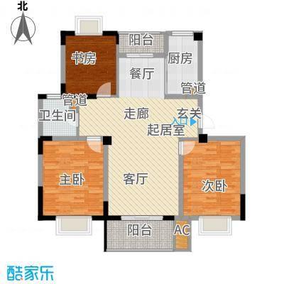 和兴花园四期和兴花园四期户型图三房二厅二卫一厨3室2厅1卫1厨户型3室2厅1卫1厨
