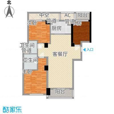 绿城锦绣兰庭146.86㎡花木绿城锦绣兰庭户型图7C户型3室2厅2卫1厨户型3室2厅2卫1厨