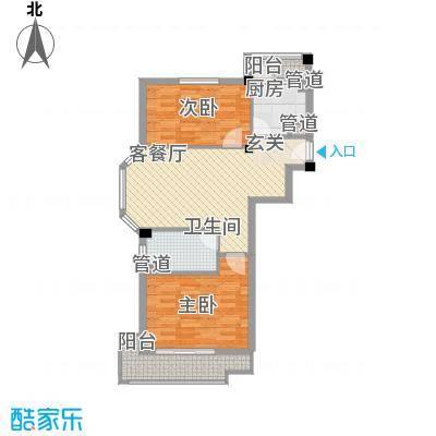 聚贤雅苑91.07㎡聚贤雅苑户型图2室2厅1卫户型10室