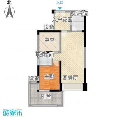 深业东城上邸户型图a1户型 1室2厅1卫