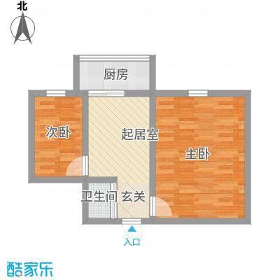化院小区45.00㎡化院小区2室户型2室