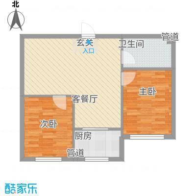 清新园96.00㎡清新园2室户型2室