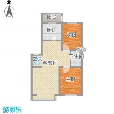 金杯住宅108.00㎡金杯住宅2室户型2室