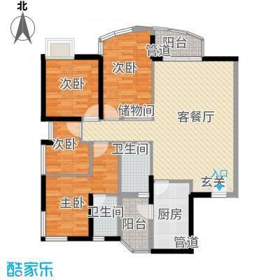 城市绿洲花园深圳城市绿洲花园一期户型图9户型10室