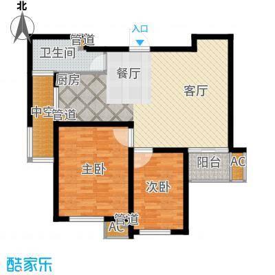 新创理想城86.00㎡新创理想城户型图三期A386平米78#2室2厅1卫1厨户型2室2厅1卫1厨