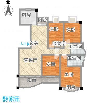 文化花园明珠苑149.32㎡文化花园明珠苑户型图上海文化花园户型图4室2厅2卫1厨户型4室2厅2卫1厨
