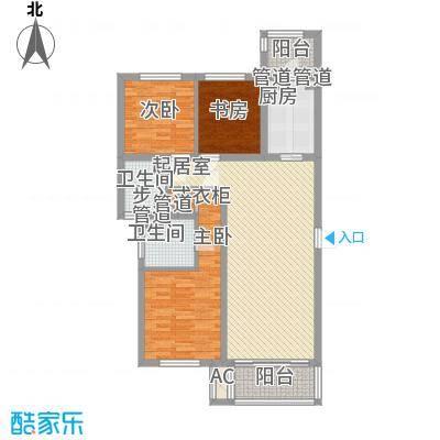 旭辉玫瑰湾121.00㎡旭辉玫瑰湾3室户型3室
