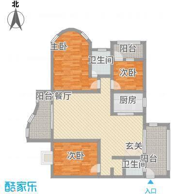 鸿景花园139.44㎡鸿景花园户型图3室2厅户型图3室2厅2卫1厨户型3室2厅2卫1厨
