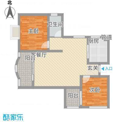 鸿景花园86.39㎡鸿景花园户型图2室2厅户型图2室2厅1卫1厨户型2室2厅1卫1厨