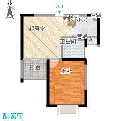 恒杰丁香花园56.00㎡恒杰丁香花园1室户型1室