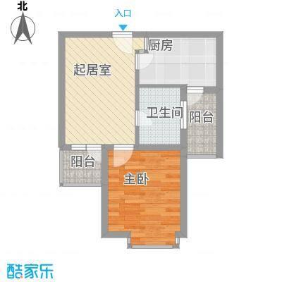 恒杰丁香花园53.00㎡恒杰丁香花园1室户型1室
