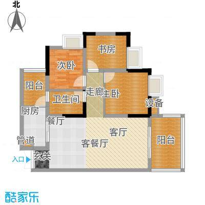 御庭国际公寓103.00㎡御庭国际公寓户型图户型图3室2厅1卫1厨户型3室2厅1卫1厨