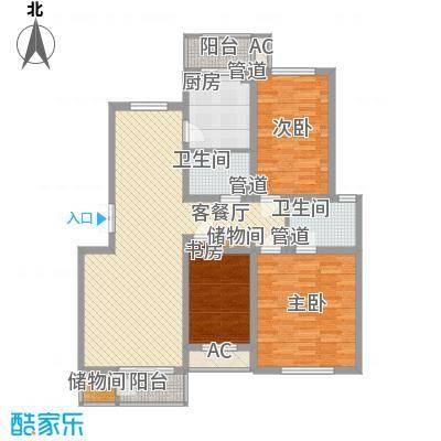 三湘盛世花园135.00㎡三湘盛世花园3室户型3室