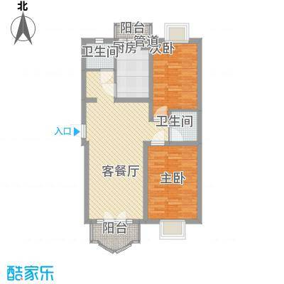 三湘盛世花园103.00㎡三湘盛世花园2室户型2室