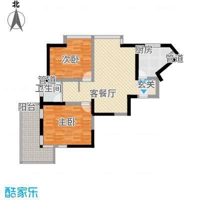 汇豪国际公寓户型图户型图 2室2厅1卫1厨