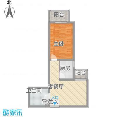 汇豪国际公寓户型图户型图 1室1厅1卫1厨