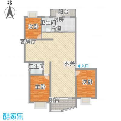 静安阳光华庭户型图4室2厅2卫1厨