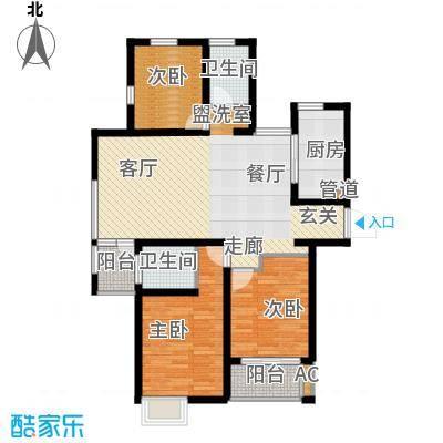 青庭国际公寓99.00㎡青庭国际公寓户型图户型图3室2厅2卫1厨户型3室2厅2卫1厨