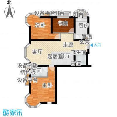 三湘花园89.00㎡三湘花园2室户型2室