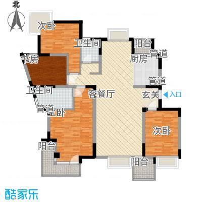 狮山丽舍172.00㎡狮山丽舍户型图户型图4室2厅2卫1厨户型4室2厅2卫1厨