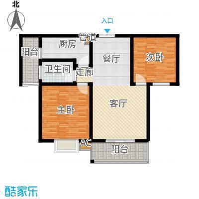 大地之歌100.00㎡大地之歌户型图户型图2室2厅1卫户型2室2厅1卫