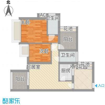 海语山林71.78㎡海语山林户型图4号楼01户型2室2厅1卫1厨户型2室2厅1卫1厨
